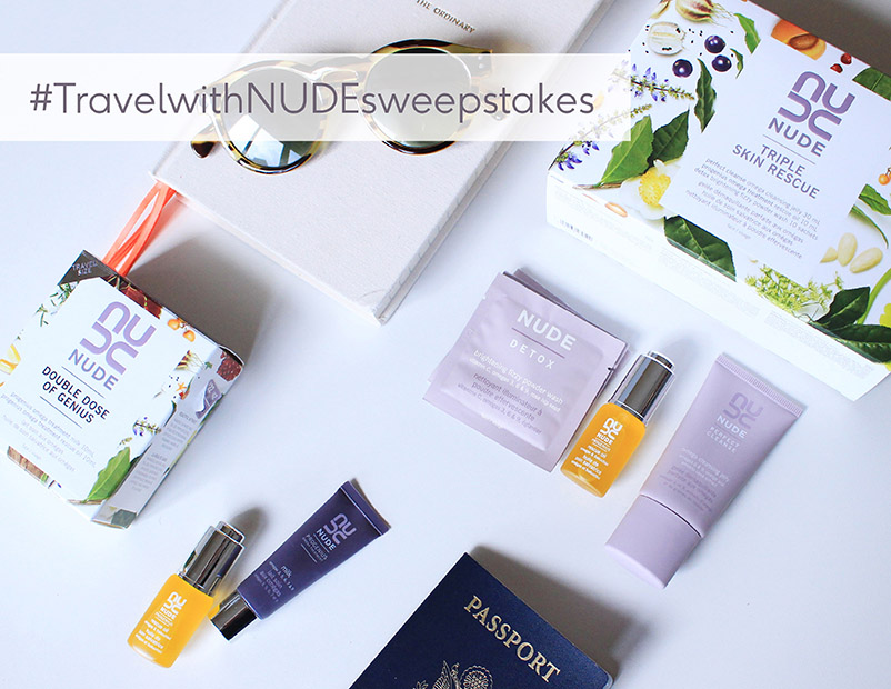 #TravelwithNUDEsweepstakes Instagram Contest | NUDE Skincare